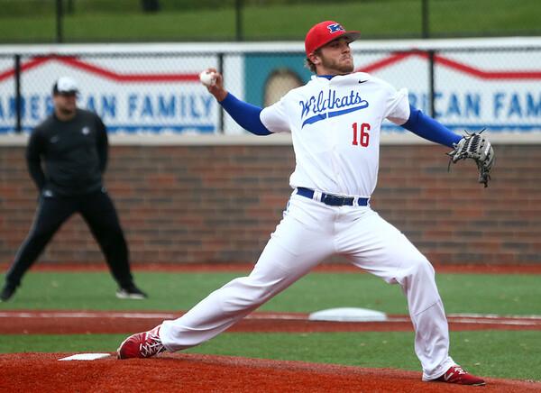 5-2-17<br /> Kokomo vs Zionsville baseball<br /> Kyle Wade pitches.<br /> Kelly Lafferty Gerber | Kokomo Tribune