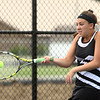 5-17-17<br /> Girls tennis sectional<br /> Western's 1 singles Abigail Moreno<br /> Kelly Lafferty Gerber | Kokomo Tribune