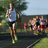 5-18-17<br /> Western's Josh Everetts stays ahead of the pack in the 1600.<br /> Kelly Lafferty Gerber | Kokomo Tribune