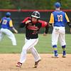 5-6-17<br /> Taylor vs TC baseball<br /> Noah Poe runs to third.<br /> Kelly Lafferty Gerber | Kokomo Tribune