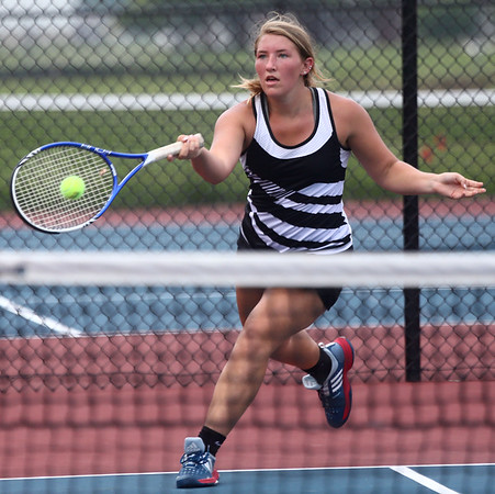 5-19-17<br /> Girls tennis sectional championship<br /> Western 3 singles Tara Hellriegel<br /> Kelly Lafferty Gerber | Kokomo Tribune