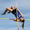 5-16-17<br /> Girls track sectional<br /> Tipton's Taylor Pierce in the pole vault.<br /> Kelly Lafferty Gerber | Kokomo Tribune
