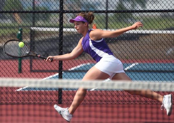 5-19-17<br /> Girls tennis sectional championship<br /> Northwestern 2 singles Allison Miller<br /> Kelly Lafferty Gerber | Kokomo Tribune