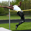 5-3-17<br /> WHS vs NWHS track<br /> Western's Jordan Hicks in the high jump.<br /> Kelly Lafferty Gerber | Kokomo Tribune