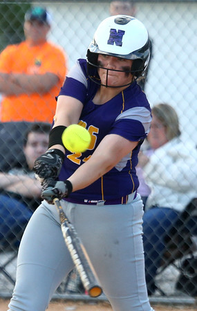 5-30-17<br /> Northwestern vs South Bend Saint Joseph<br /> Crystal Metz bats and hits a double causing Bailey Thatcher to score.<br /> Kelly Lafferty Gerber | Kokomo Tribune