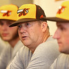 Manager Gary McClure talks to media before the start of the Jackrabbits season on May 26, 2017.<br /> Kelly Lafferty Gerber | Kokomo Tribune