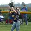 5-23-17<br /> Northwestern vs Western softball<br /> NW Kayla Fogle makes the catch for an out.<br /> Kelly Lafferty Gerber | Kokomo Tribune