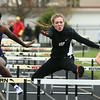 5-3-17<br /> WHS vs NWHS track<br /> Western's Mallory Winger in the hurdles.<br /> Kelly Lafferty Gerber | Kokomo Tribune
