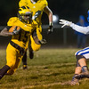 Panthers running back Addai Lewellen (15) carries the ball in the fourth quarter. Pioneer defeated LaVille 38-0 in regional football action at the Pit on Friday night. Fran Ruchalski | Pharos-Tribune