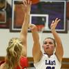 11-4-17<br /> Northwestern vs Twin Lakes girls basketball<br /> NW's Morgan Mercer shoots.<br /> Kelly Lafferty Gerber | Kokomo Tribune