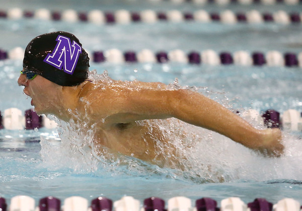 11-30-17<br /> Northwestern vs Logansport swimming<br /> Michael Bolyard in the boys 100 Yard Butterfly.<br /> Kelly Lafferty Gerber | Kokomo Tribune