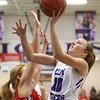 11-4-17<br /> Northwestern vs Twin Lakes girls basketball<br /> Klair Merrell shoots.<br /> Kelly Lafferty Gerber | Kokomo Tribune