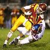 11-3-17<br /> Kokomo vs McCutcheon sectional championship<br /> Kokomo's DeShawn Winston takes down McCutcheon's Bryson McGhee.<br /> Kelly Lafferty Gerber | Kokomo Tribune
