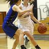 11-7-17<br /> Western vs Northfield girls basketball<br /> Makayla Calloway dribbles down the court.<br /> Kelly Lafferty Gerber   Kokomo Tribune