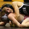 11-18-17 <br /> Western wrestling<br /> Justin Brantley, top, in the 106.<br /> Kelly Lafferty Gerber | Kokomo Tribune