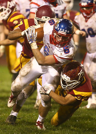 11-3-17<br /> Kokomo vs McCutcheon sectional championship<br /> Jack Perkins runs the ball.<br /> Kelly Lafferty Gerber | Kokomo Tribune