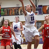 11-4-17<br /> Northwestern vs Twin Lakes girls basketball<br /> NW's Katie Neher shoots.<br /> Kelly Lafferty Gerber | Kokomo Tribune
