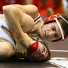 11-18-17 <br /> Western wrestling<br /> Western's Tyler Lechner in the 126 takes down his Fisher's opponent.<br /> Kelly Lafferty Gerber | Kokomo Tribune