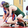 11-29-17<br /> Eastern vs Kokomo wrestling<br /> Eastern's Macaiah White takes down Kokomo's Jabian Shaffer in the 132.<br /> Kelly Lafferty Gerber | Kokomo Tribune