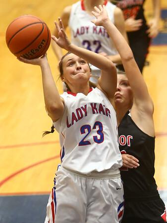 11-8-17<br /> Kokomo vs Taylor girls basketball<br /> Kokomo's Olivia Branch shoots.<br /> Kelly Lafferty Gerber | Kokomo Tribune