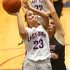 11-8-17<br /> Kokomo vs Taylor girls basketball<br /> Kokomo's Olivia Branch shoots.<br /> Kelly Lafferty Gerber | Kokomo Tribune