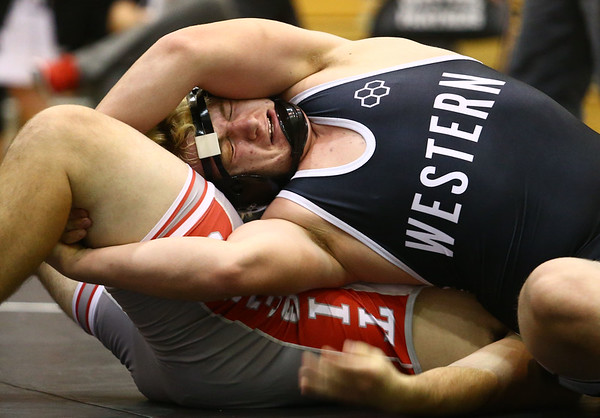 11-18-17 <br /> Western wrestling<br /> Braydon Erb in the 220.<br /> Kelly Lafferty Gerber | Kokomo Tribune