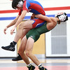 11-29-17<br /> Eastern vs Kokomo wrestling<br /> Eastern's Aren Turner takes down Kokomo's Rafael Lopez in the 145.<br /> Kelly Lafferty Gerber | Kokomo Tribune