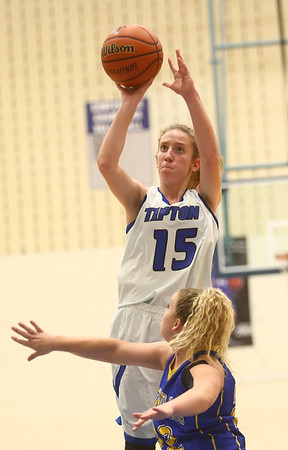 11-9-17<br /> Tipton vs Tri Central girls basketball<br /> Tipton's Lexi Altherr shoots.<br /> Kelly Lafferty Gerber | Kokomo Tribune