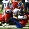 11-17-17<br /> Kokomo semi state<br /> Kokomo defense takes down Michigan City's ball carrier.<br /> Kelly Lafferty Gerber | Kokomo Tribune
