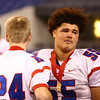 11-24-17<br /> Kokomo state football<br /> Varteese Mayfield fights back tears at the end of the state championship game.<br /> Kelly Lafferty Gerber | Kokomo Tribune