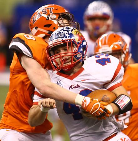 11-24-17<br /> Kokomo state football<br /> Noah Hurlock runs the ball.<br /> Kelly Lafferty Gerber | Kokomo Tribune