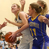 11-9-17<br /> Tipton vs Tri Central girls basketball<br /> Tipton's Rachel Majors looks up to the basket after grabbing a rebound.<br /> Kelly Lafferty Gerber | Kokomo Tribune