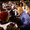 11-3-17<br /> Kokomo vs McCutcheon sectional championship<br /> Coach Brett Colby talks to varsity players and congratulates the team after Kokomo's sectional win.<br /> Kelly Lafferty Gerber | Kokomo Tribune