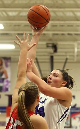 11-4-17<br /> Northwestern vs Twin Lakes girls basketball<br /> Kendall Bostic shoots.<br /> Kelly Lafferty Gerber | Kokomo Tribune