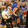 11-9-17<br /> Tipton vs Tri Central girls basketball<br /> TC's Kenadie Fernung dribbles down the court.<br /> Kelly Lafferty Gerber | Kokomo Tribune
