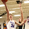 11-21-17<br /> Northwestern vs Madison Grant boys basketball<br /> Brayden Maple shoots.<br /> Kelly Lafferty Gerber | Kokomo Tribune