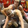 11-18-17 <br /> Western wrestling<br /> Hunter Cottingham, top, in the 138.<br /> Kelly Lafferty Gerber | Kokomo Tribune