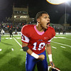11-17-17<br /> Kokomo semi state football<br /> Kokomo's Kohl Beard celebrates after the Wildkat victory.<br /> Kelly Lafferty Gerber | Kokomo Tribune