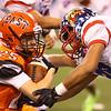 11-24-17<br /> Kokomo state football<br /> Brody Smith takes down the ball carrier.<br /> Kelly Lafferty Gerber | Kokomo Tribune