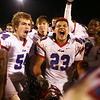 11-3-17<br /> Kokomo vs McCutcheon sectional championship<br /> Jabrian Adams celebrates with his Kokomo teammates after their sectional win.<br /> Kelly Lafferty Gerber | Kokomo Tribune