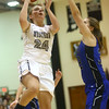 11-7-17<br /> Western vs Northfield girls basketball<br /> Sammie Garber puts up a shot.<br /> Kelly Lafferty Gerber | Kokomo Tribune
