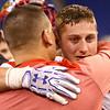 11-24-17<br /> Kokomo state football<br /> Jack Perkins gets emotional as he hugs a coach after the game.<br /> Kelly Lafferty Gerber | Kokomo Tribune