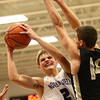 11-21-17<br /> Northwestern vs Madison Grant boys basketball<br /> Logan Bowser looks to the basket.<br /> Kelly Lafferty Gerber | Kokomo Tribune