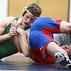 11-29-17<br /> Eastern vs Kokomo wrestling<br /> Eastern's Tytus Morrisett takes down Kokomo's Kevin Logan in the 138.<br /> Kelly Lafferty Gerber | Kokomo Tribune