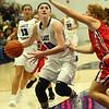11-4-17<br /> Northwestern vs Twin Lakes girls basketball<br /> Steph Burns looks the basket for a shot.<br /> Kelly Lafferty Gerber   Kokomo Tribune