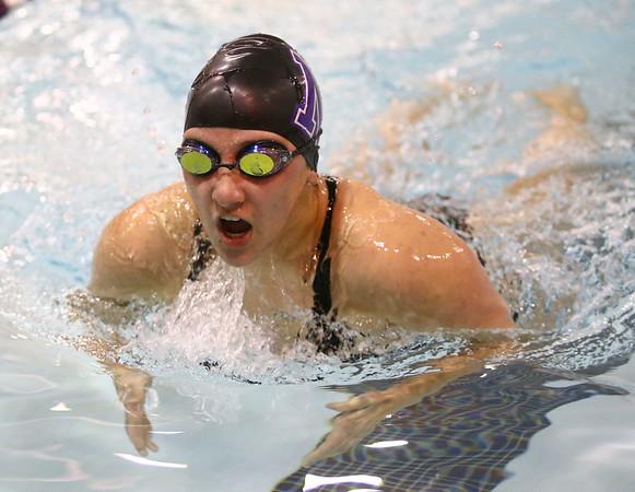 11-30-17<br /> Northwestern vs Logansport swimming<br /> NW's Grace Bourff in the Girls 200 Yard IM.<br /> Kelly Lafferty Gerber | Kokomo Tribune