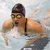 11-30-17<br /> Northwestern vs Logansport swimming<br /> NW's Grace Bourff in the Girls 200 Yard IM.<br /> Kelly Lafferty Gerber | Kokomo Tribune