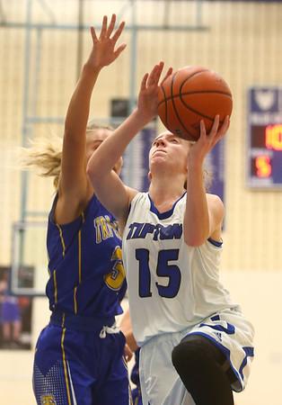 11-9-17<br /> Tipton vs Tri Central girls basketball<br /> <br /> Kelly Lafferty Gerber | Kokomo Tribune