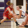 11-4-17<br /> Northwestern vs Twin Lakes girls basketball<br /> NW's Klair Merrell grabs a loose ball.<br /> Kelly Lafferty Gerber | Kokomo Tribune