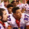 11-24-17<br /> Kokomo state football<br /> Kajon East listens to Coach Colby after the game.<br /> Kelly Lafferty Gerber | Kokomo Tribune